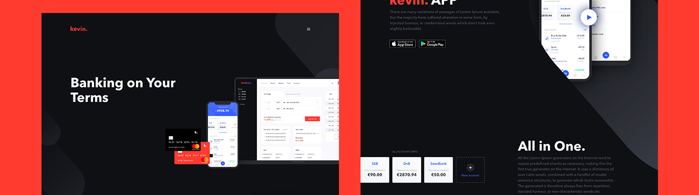 kevin - Financial Services Landing Page